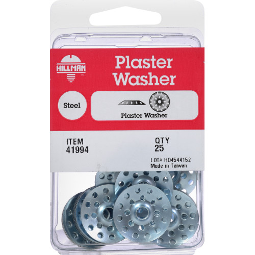 Zinc-Plated Plaster Washers - 25 pieces