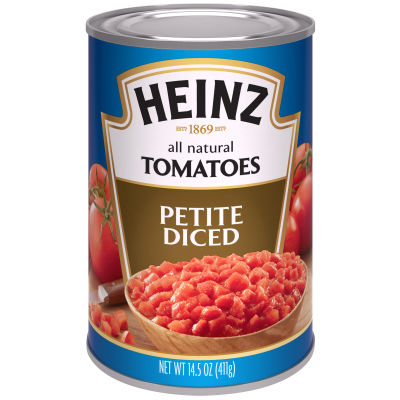 Heinz All Natural Petite Diced Tomatoes 14.5 oz Can