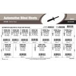 Nylon Button-Head Automotive Blind Rivets Assortment