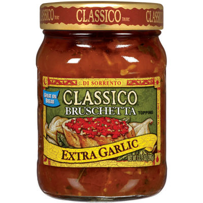 Classico Extra Garlic Bruschetta Topping 13.75 oz Jar