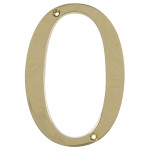 "Distinctions 4"" Flush Mount Brass House Number"