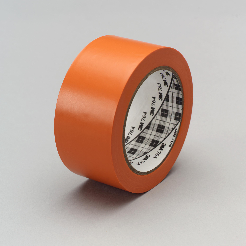 3M™ General Purpose Vinyl Tape 764, Orange, 49 in X 36 yd, 5 mil, 3 rolls per case