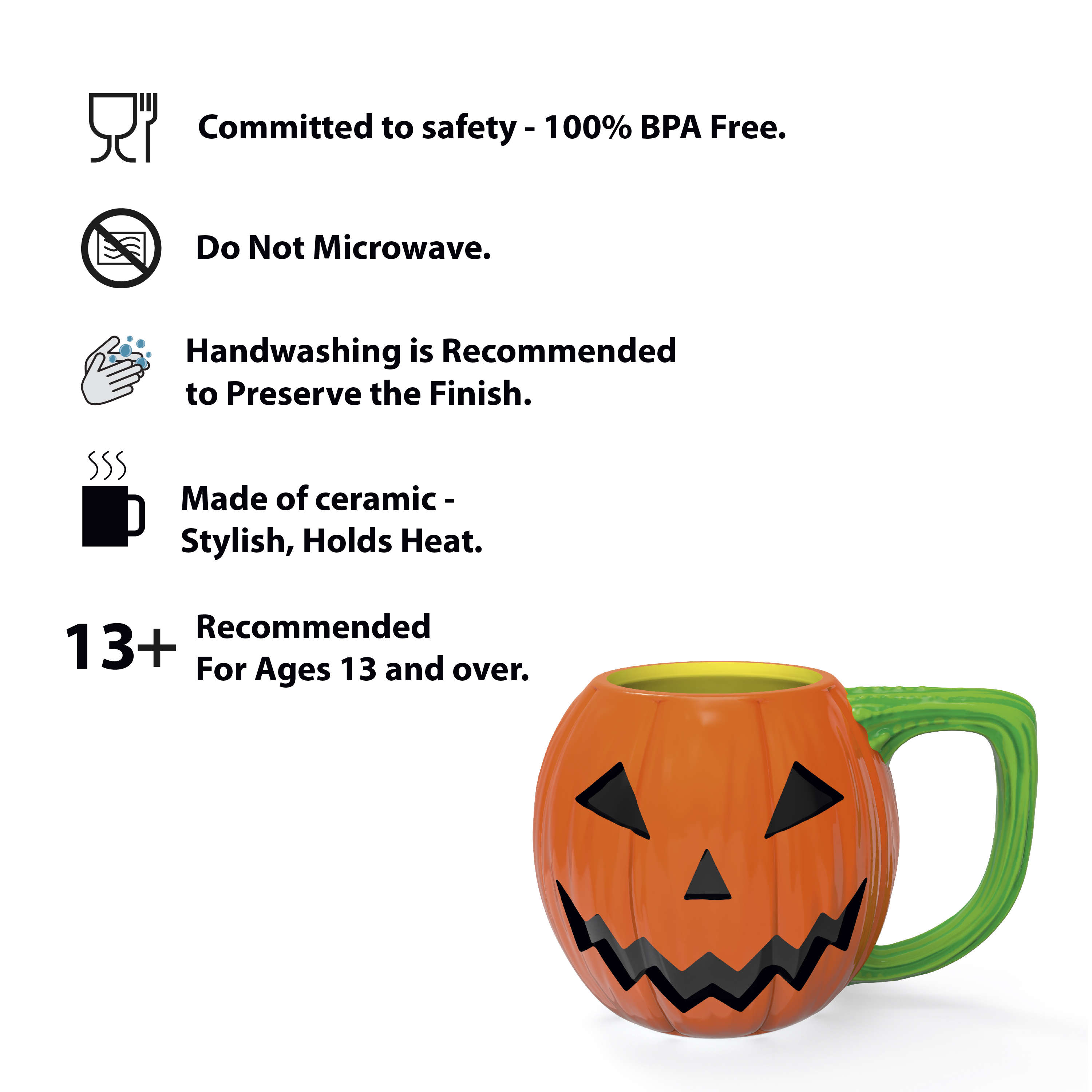 Halloween 15 ounce Coffee Mug and Spoon, Jack O' Lantern slideshow image 8