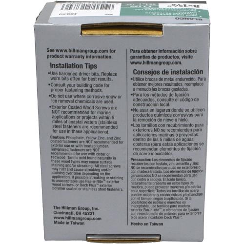 Deck Plus White Deck Screw - 1lb Box (#8 x 1-5/8