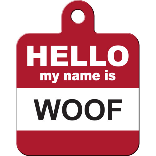Hello Woof Large Square Quick-Tag 5 Pack