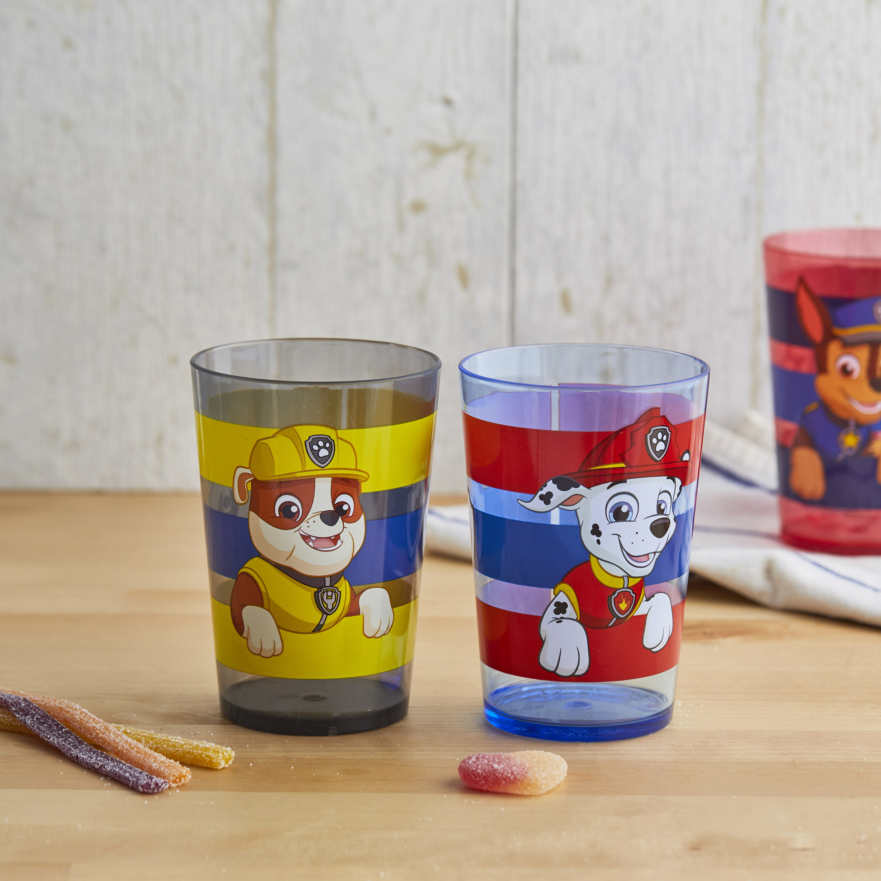 Paw Patrol 14.5 ounce Tumbler, Chase, Skye and Friends, 4-piece set slideshow image 2