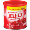 Jell-O Multi Serve Strawberry Gelatin Dessert Mix 18 oz Canister