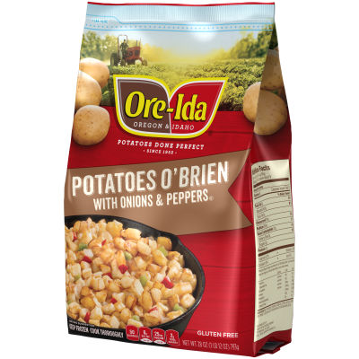 Ore-Ida Potatoes O'Brien with Onions & Peppers 28 oz Bag