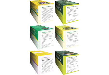 Ingredient panels of Mixed Case of Cold & Flu Teas - 6 boxes