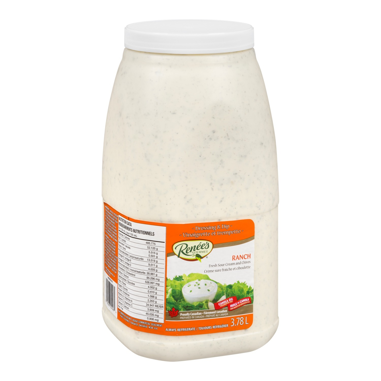RENÉE'S Ranch Dressing 3.78L 2