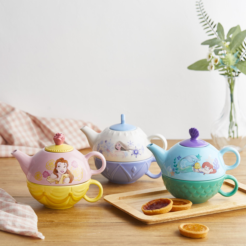 Disney Princess Sculpted Ceramic Tea Set, Princess Belle, 4-piece set slideshow image 6