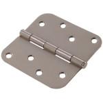 "Hardware Essentials 5/8"" Round Corner Stainless Steel Door Hinges (4"")"