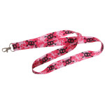 XO Hot Pink Skull Neck Lanyard