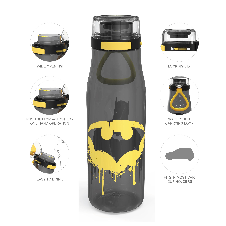 DC Comics 25 ounce Water Bottle, Batman, 3-piece set slideshow image 7