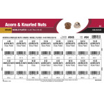 "Brass & Nickel-Plated Acorn & Knurled Nuts Assortment (#4-40 thru 3/8""-16)"
