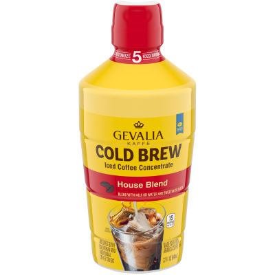 Gevalia Cold Brew House Blend Concentrate Iced Coffee, 32 oz Bottle