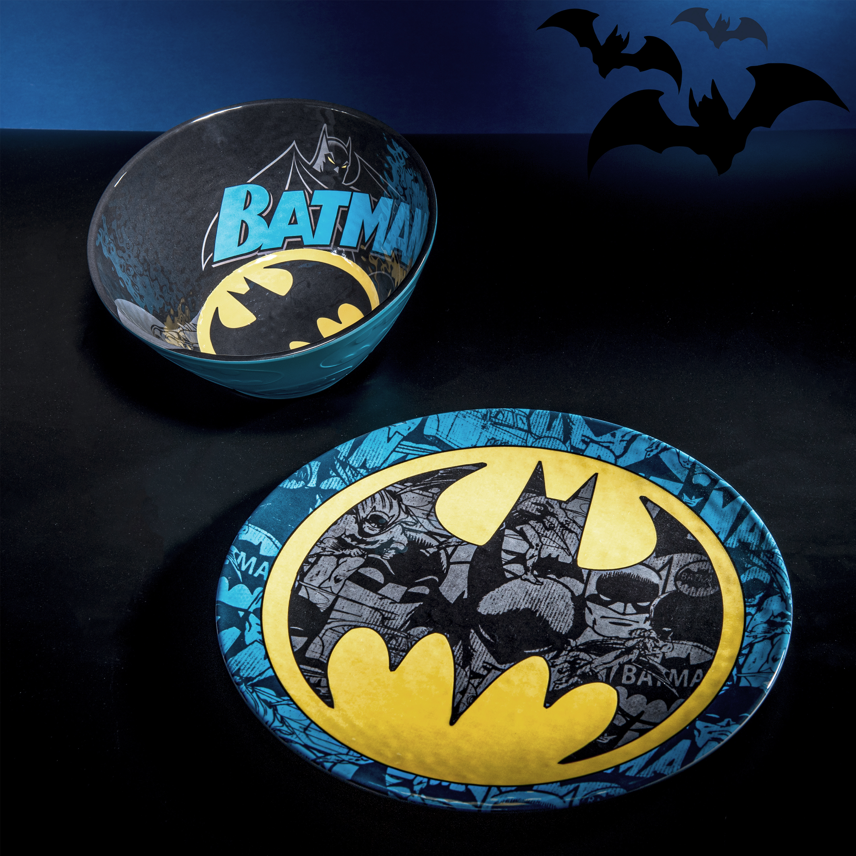 DC Comics Plate, Bowl and Tumbler Set, Batman, 3-piece set slideshow image 9