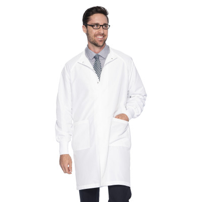 Landau 2 Pocket Unisex Lab Coat - Classic Fit, High-Neck, Full Length, Snap Front, Protective Barrier 9135-