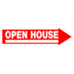 Open House Arrow Sign
