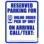 Hillman Reserved for Online Order Sign (COVID-19)