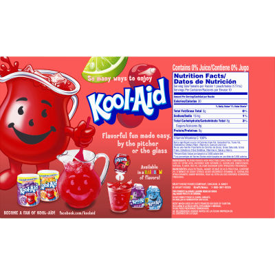 Kool-Aid Jammers Cherry Limeade Ready-to-Drink Soft Drink 10 - 6 fl oz Packets