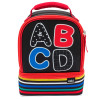 Grid Lock 2-compartment Reusable Insulated Lunch Bag, ABC slideshow image 1
