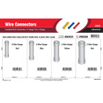 Wire Connectors Assortment (8 Gauge thru 2 Gauge Insulated Butt Connectors)