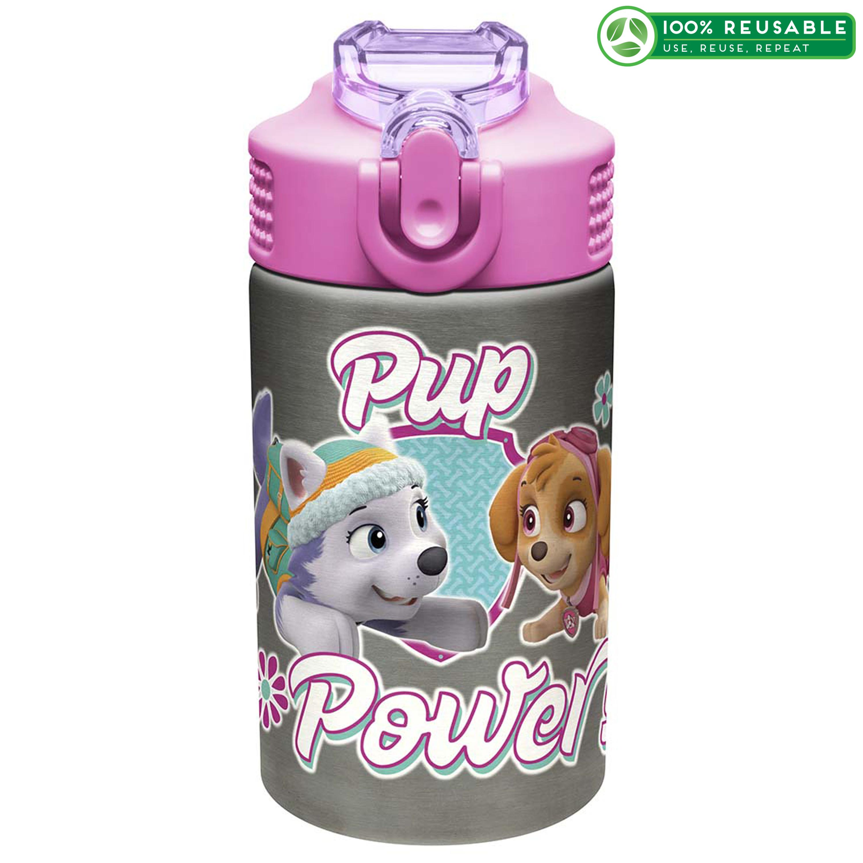 Paw Patrol 15.5 ounce Water Bottle, Skye, Everest & Chase slideshow image 1