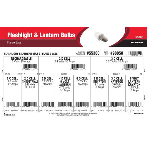 Flashlight & Lantern Bulbs (Flange Base)