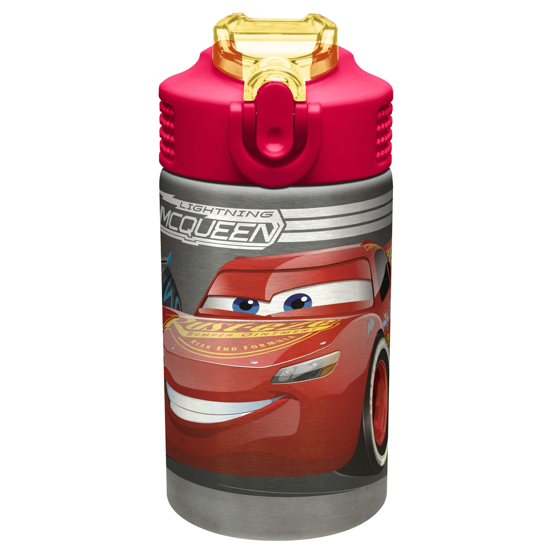 Cars 3 15.5 ounce Water Bottle, Lightning McQueen & Jackson Storm slideshow image 1