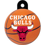 Chicago Bulls Large Circle ID Spot Tag