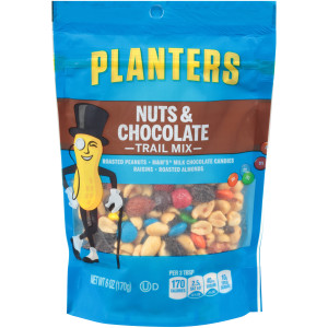 PLANTERS Nut and Chocolate Trail Mix, 6 oz. Bags (Pack of 12) image