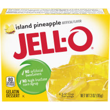 Jell-O Island Pineapple Gelatin Mix, 3 oz Box