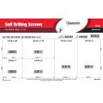 "Hex Washer-Head Self-Drilling Screws Assortment (1/4""-14)"