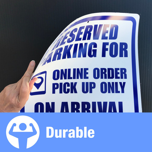 Hillman Reserved for Online Order Sign (15