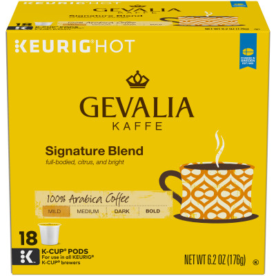 Gevalia Signature Blend Coffee K-Cup Pods 18 count