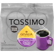 Gevalia Bold Majestic Roast Ground Coffee T-Disc for Tassimo Brewing System, 12 count