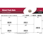 "Nickel Push Nuts Assortment (1/4"" thru 1/2"" Diameters)"