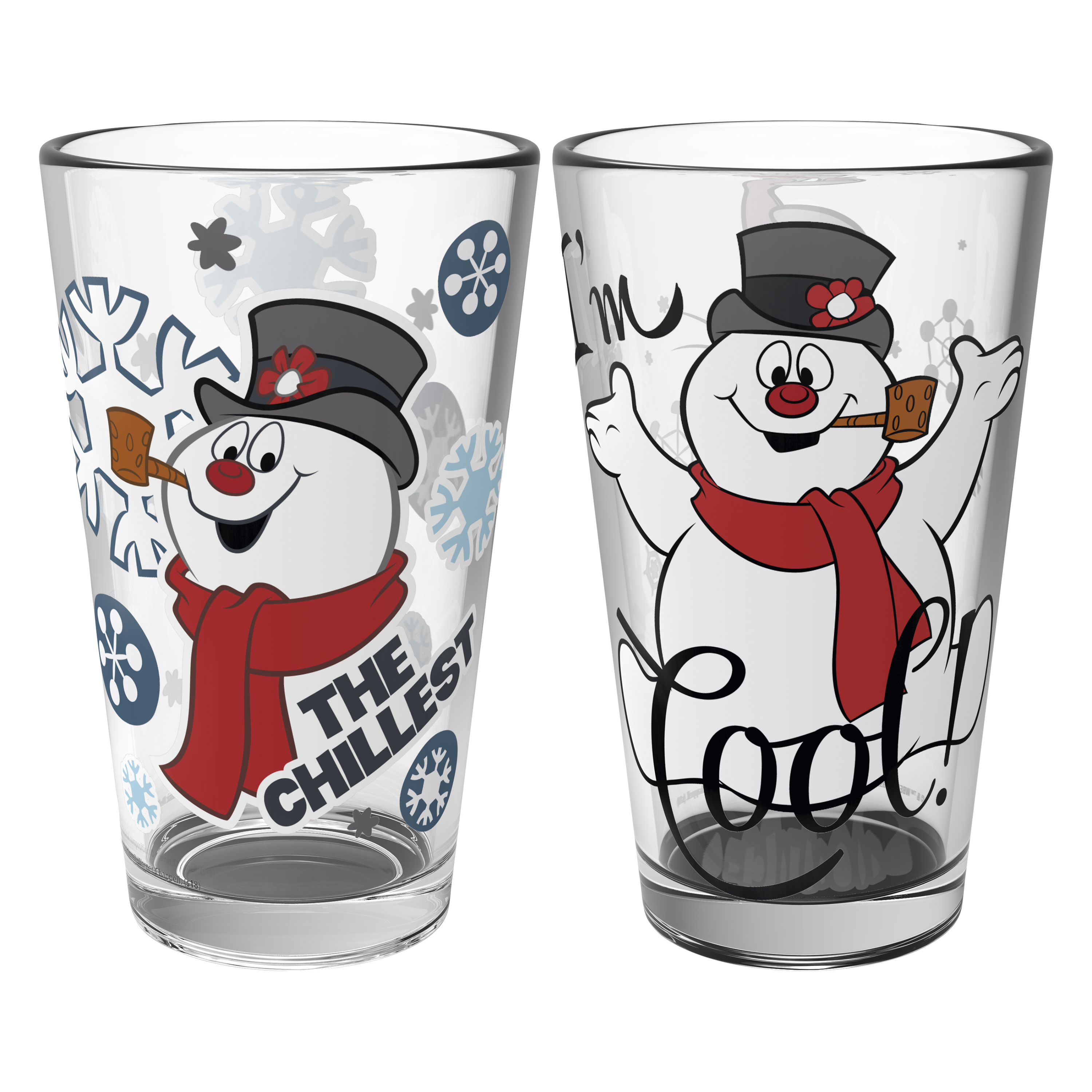 Christmas Collectibles 16 ounce Pint Glasses, Frosty the Snowman, 2-piece set slideshow image 2