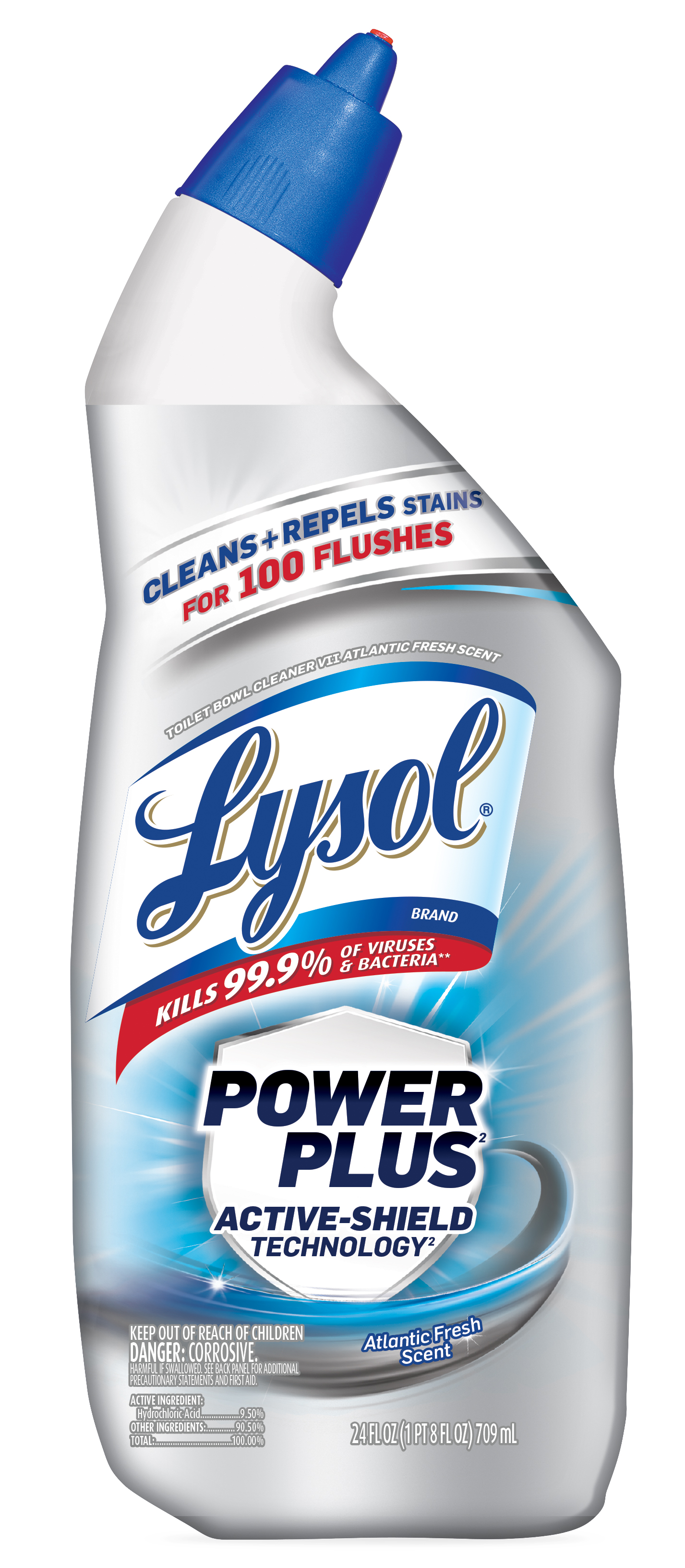 Lysol Toilet Bowl Cleaner Power Plus Atlantic Fresh 24oz