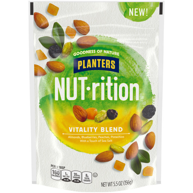 Planters Nutrition Snack Nut and Dried Fruit Mix Vitality Blend 5.5 oz Bag
