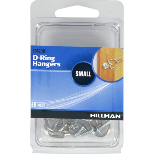 Hillman Small D-Ring Hangers Value Pack