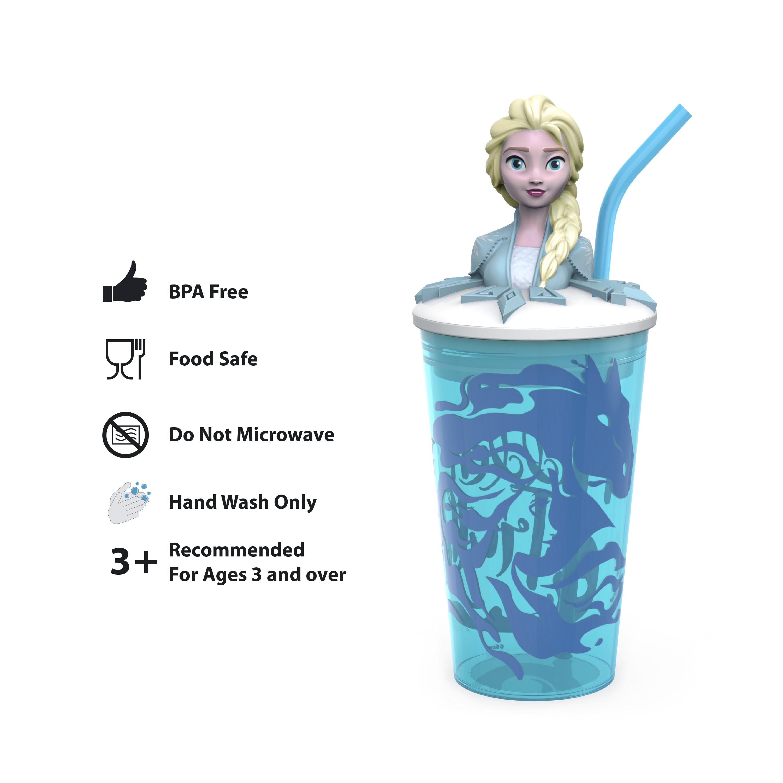 Disney Frozen 2 Movie 15 ounce Kid's Tumbler, Anna and Elsa, 2-piece set slideshow image 4