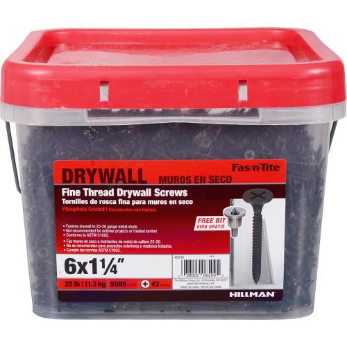Fas-n-Tite Fine Drywall Screw #6 x 1-1/4