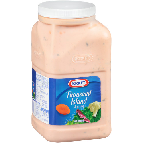 KRAFT Thousand Island Dressing, 1 gal. Pourable Jugs (Pack of 4)