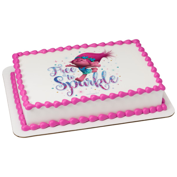 DreamWorks Trolls Free to Sparkle PhotoCake® Image