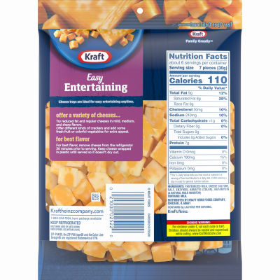 Kraft Colby & Monterey Jack Natural Cheese Cubes 6.4 oz Bag