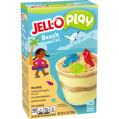Jell-O Creations Beach Cups Dessert Kit, 9.3 oz Box
