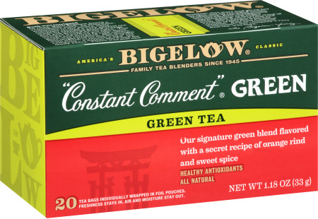 Constant Comment Green Tea - Case of 6 boxes - total of 120 teabags