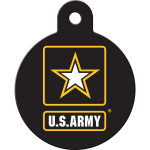 Army Large Circle Quick-Tag